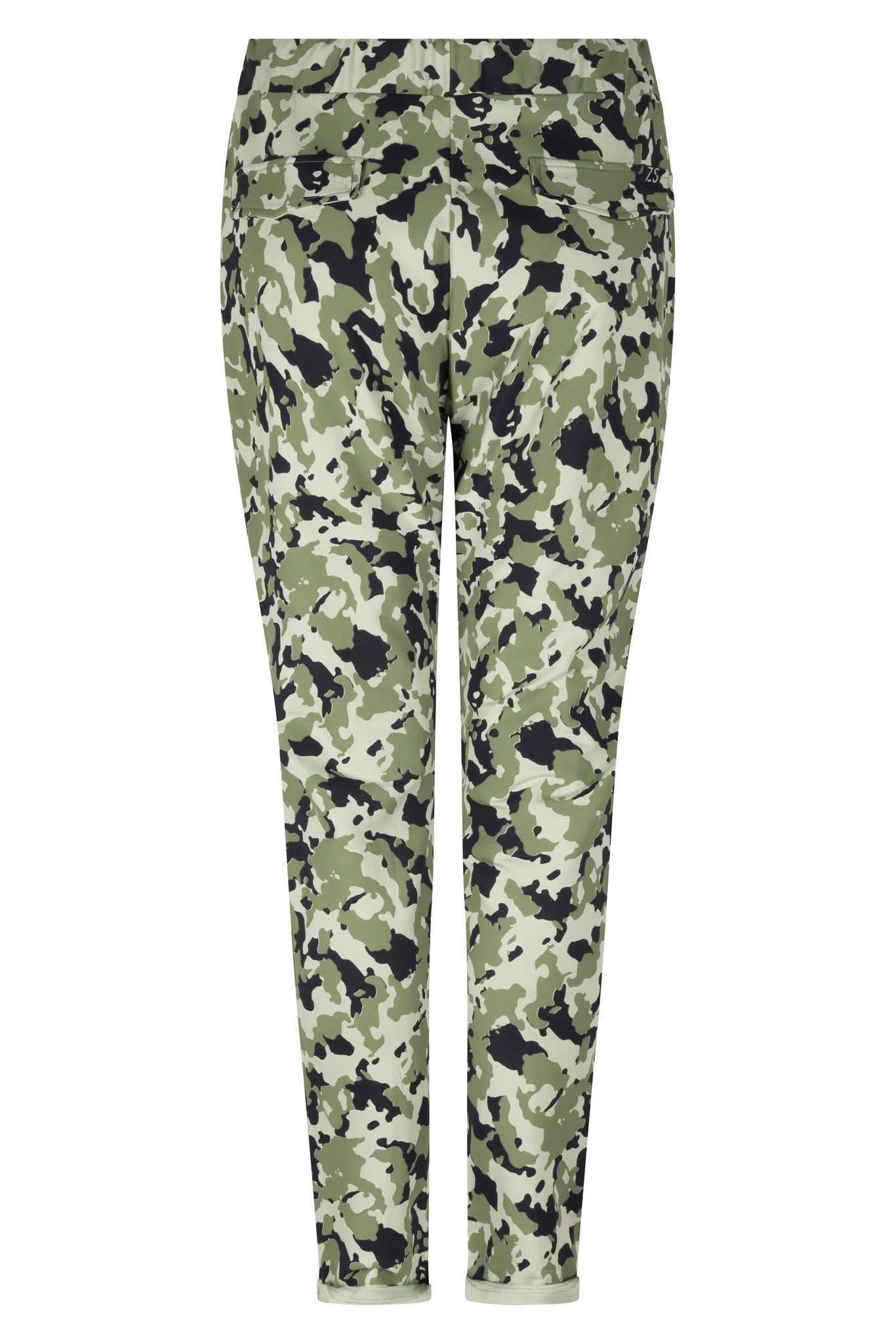 Zoso Zoso Monique Camouflage sweat pant navy/green