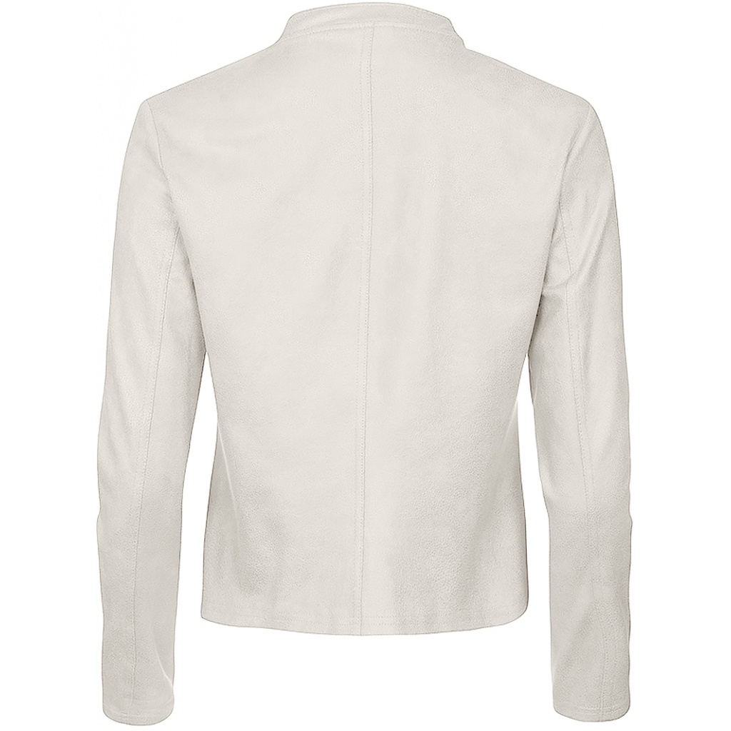 One Two Luxzuz One Two Luxzuz Athena Coated suede Jacket off white/cream