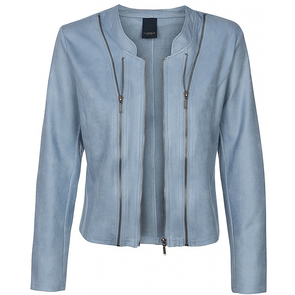 One Two Luxzuz One Two Luxzuz Athena Coated suede Jacket Vintage blue