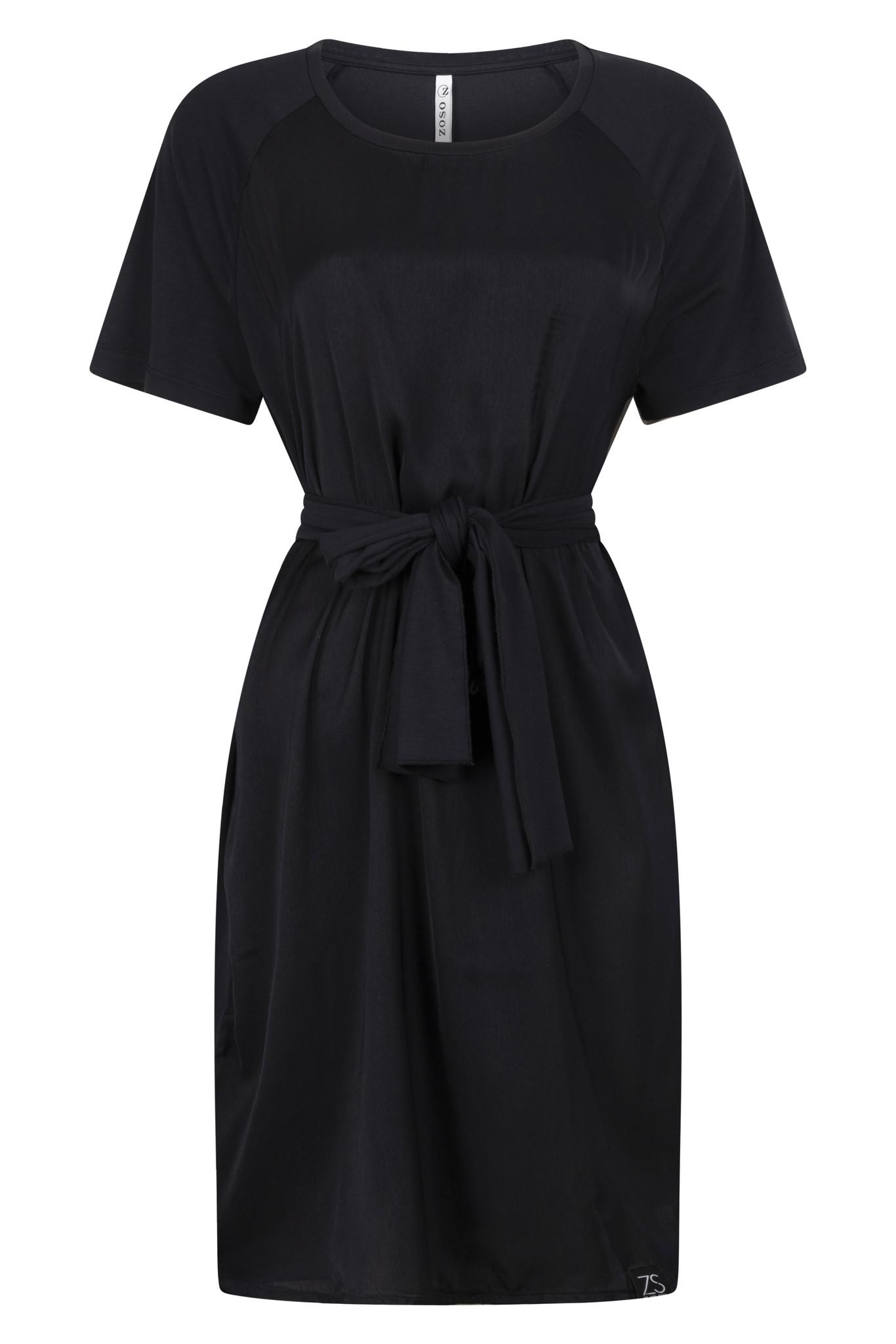 Zoso Zoso Mission mixed fabric  tunic/dress navy