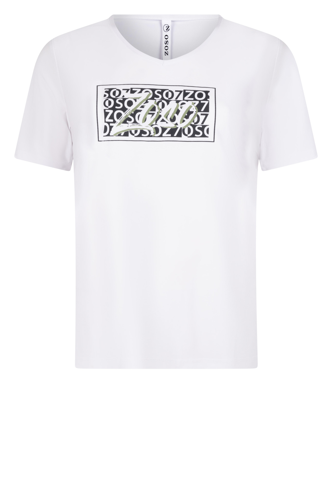 Zoso Zoso  Ingrid luxury t shirt with print white green