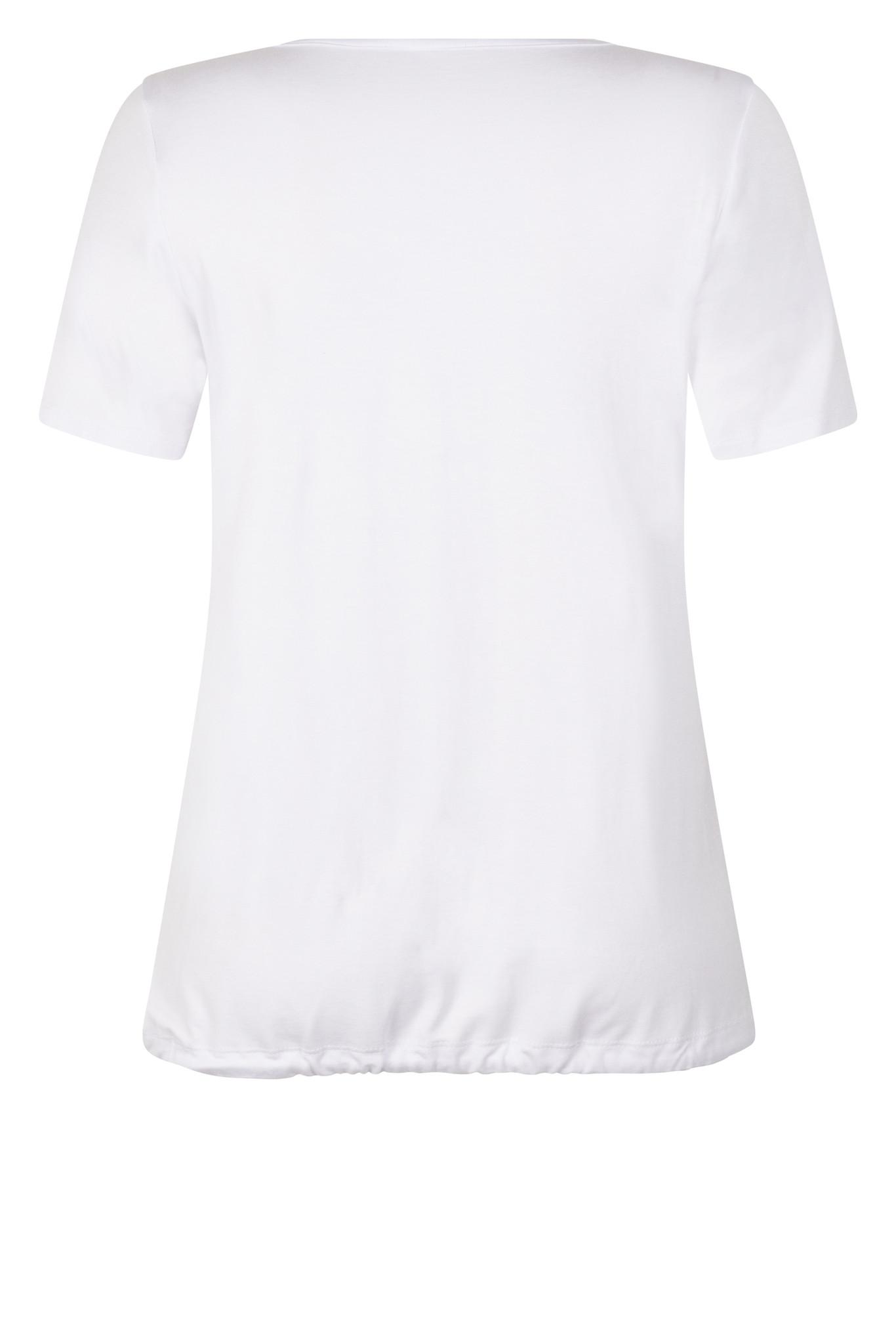 Zoso Zoso Mixit T shirt mixed fabrics  white/navy