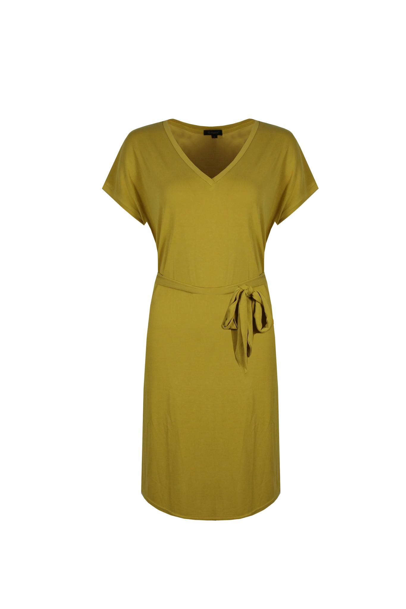 G-Maxx G-Maxx jurk Elin okergeel