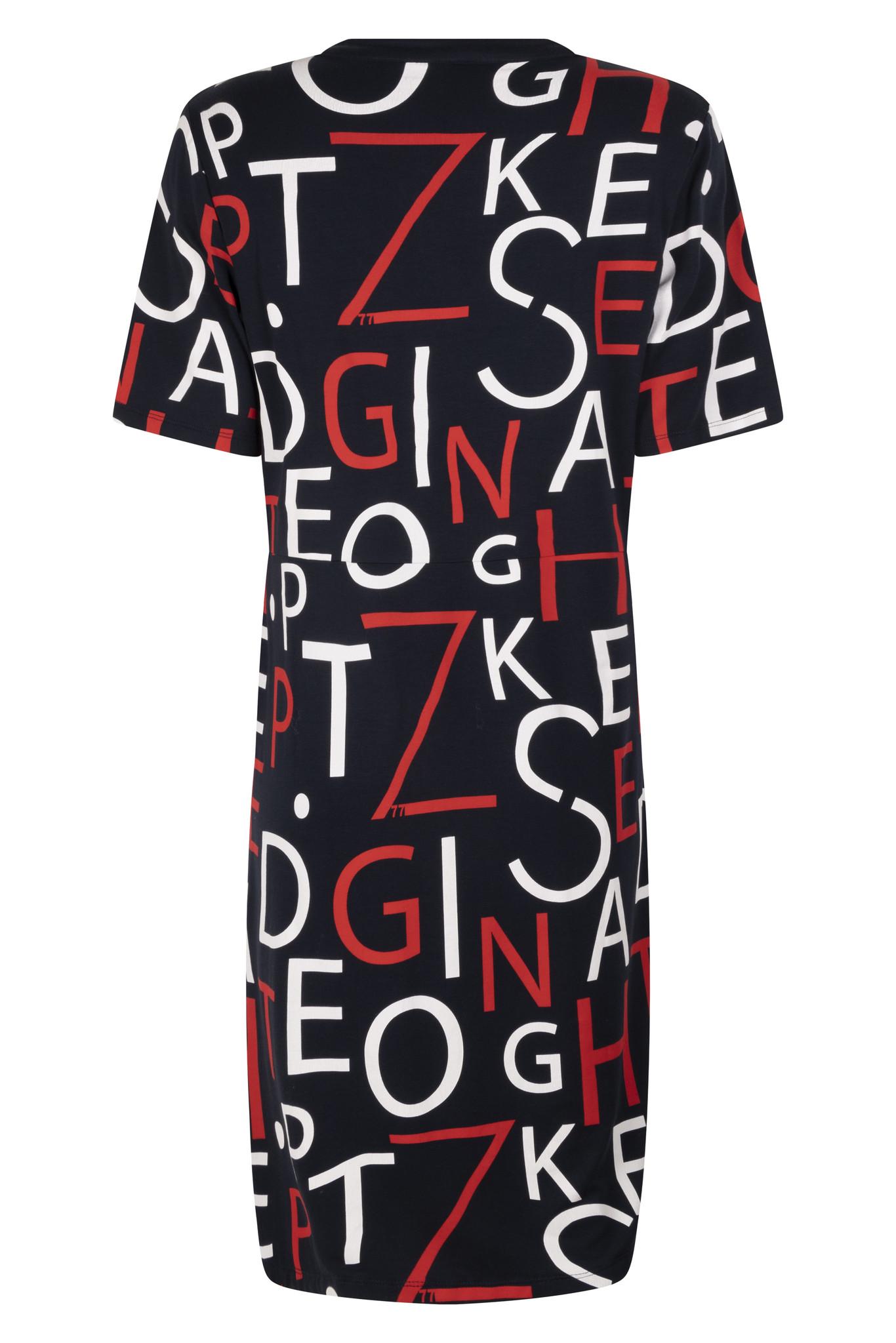 Zoso Zoso Nanette tuniek/jurk printed summer red/navy