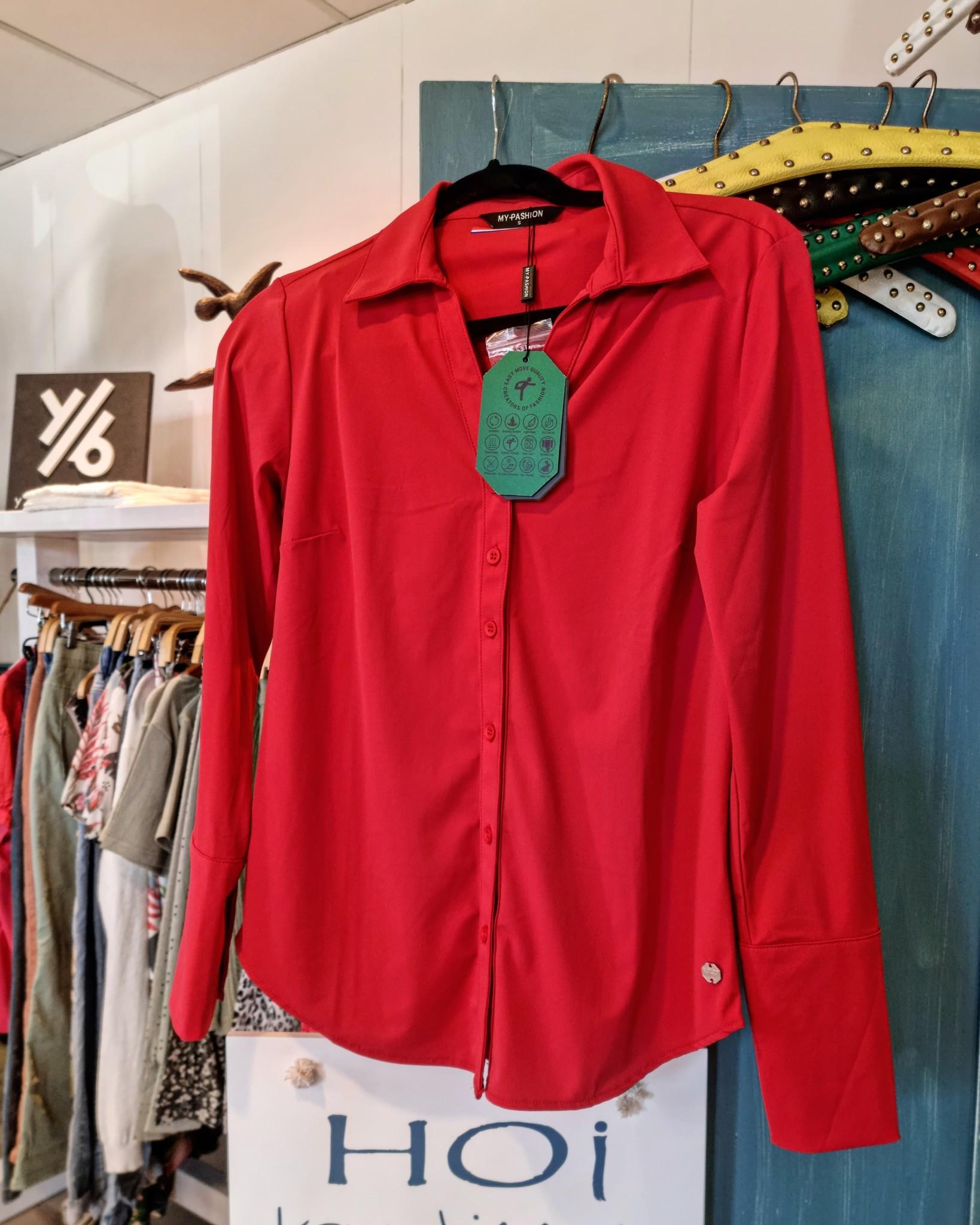 My Pashion My Pashion blouse Schantionea red