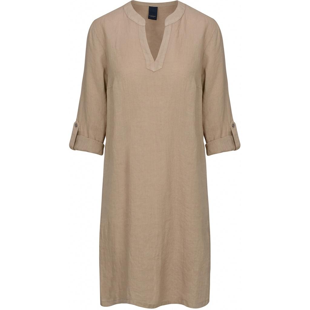 One Two Luxzuz One Two Luxzuz Katalino jurk linnen zand