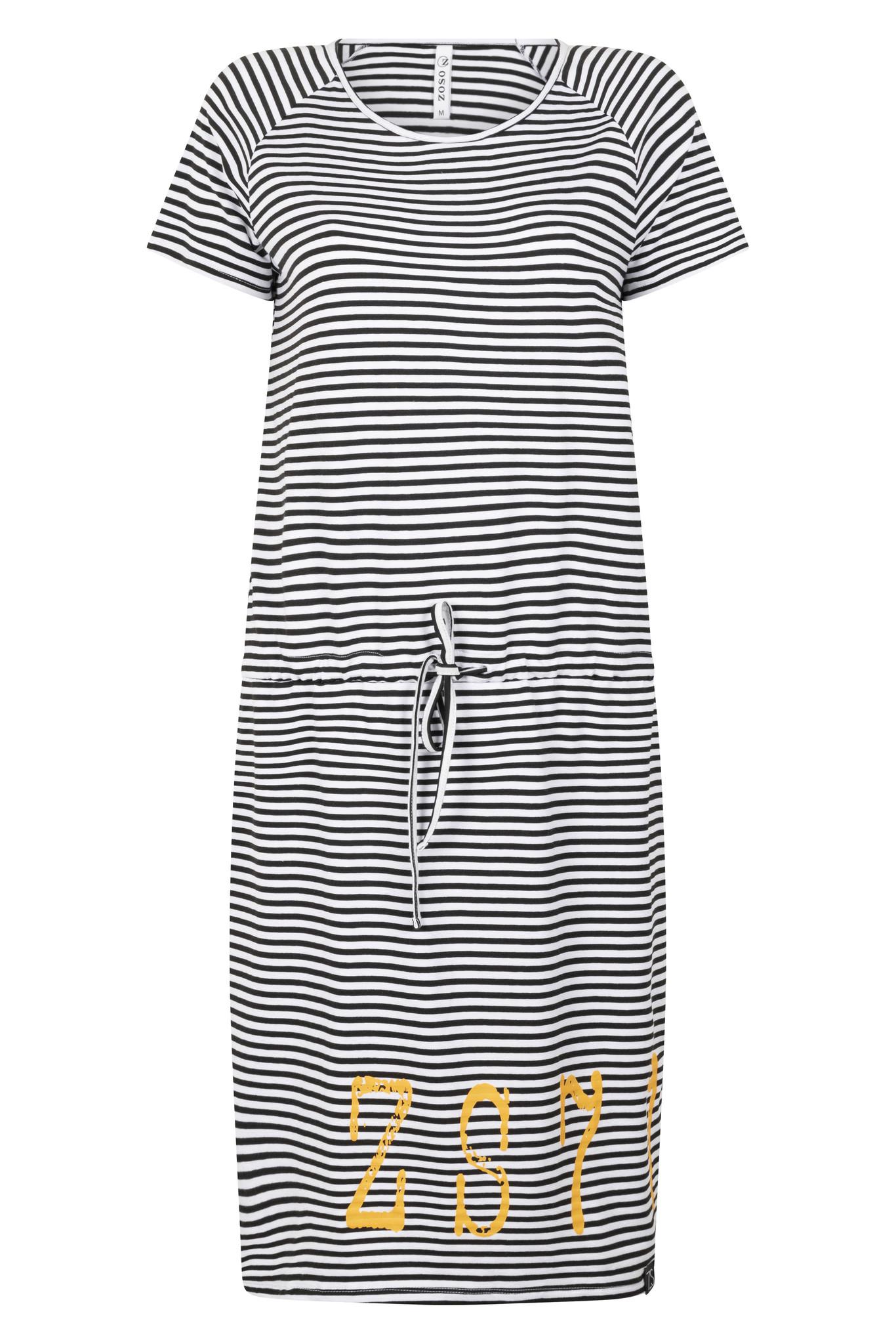 Zoso Zoso Chelsey jurk striped with print