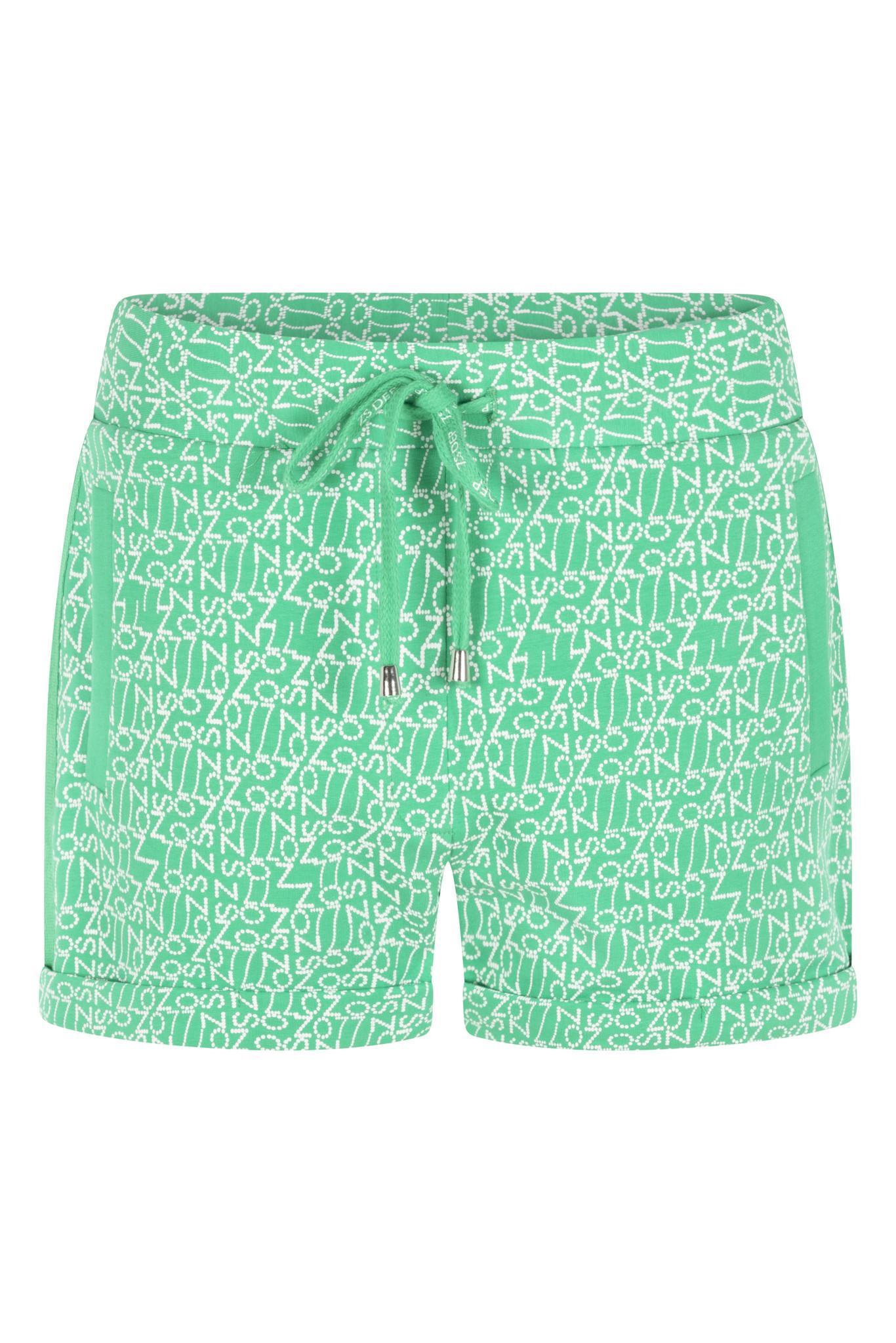 Zoso Zoso Sky short printed sweat groen/wit
