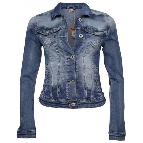 Place Du Jour Place Du Jour Jeans jacket midden blauw