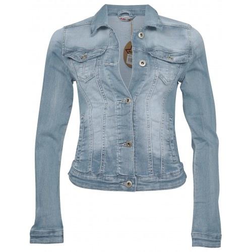 Place Du Jour Place Du Jour jacket jeans licht blauw