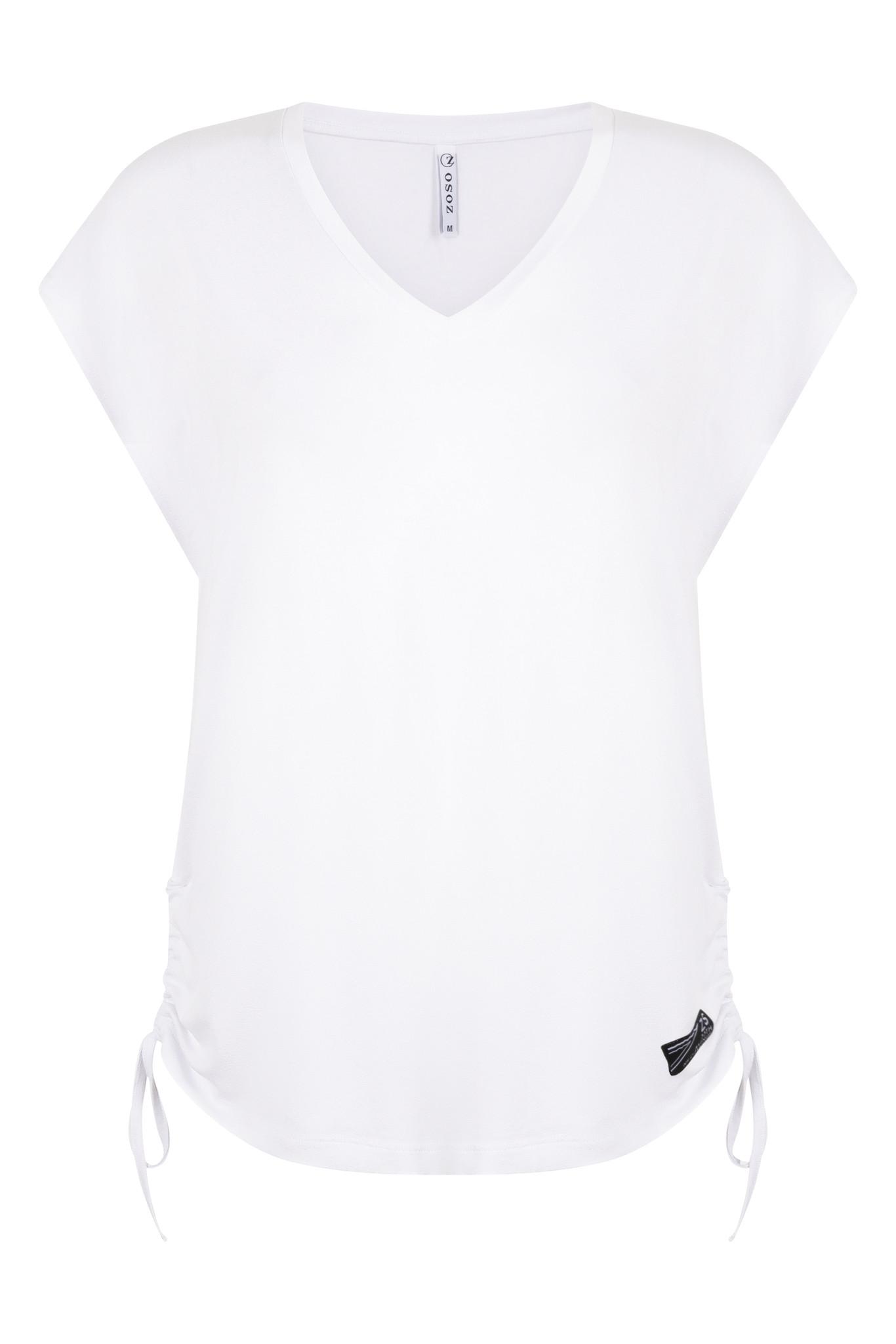 Zoso Zoso Lauren t-shirt with side detail white