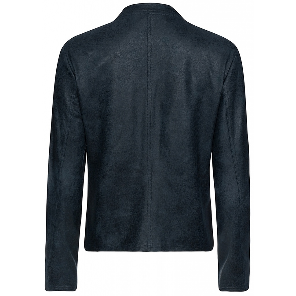 One Two Luxzuz One Two Luxzuz Athena Coated suede Jacket dark navy