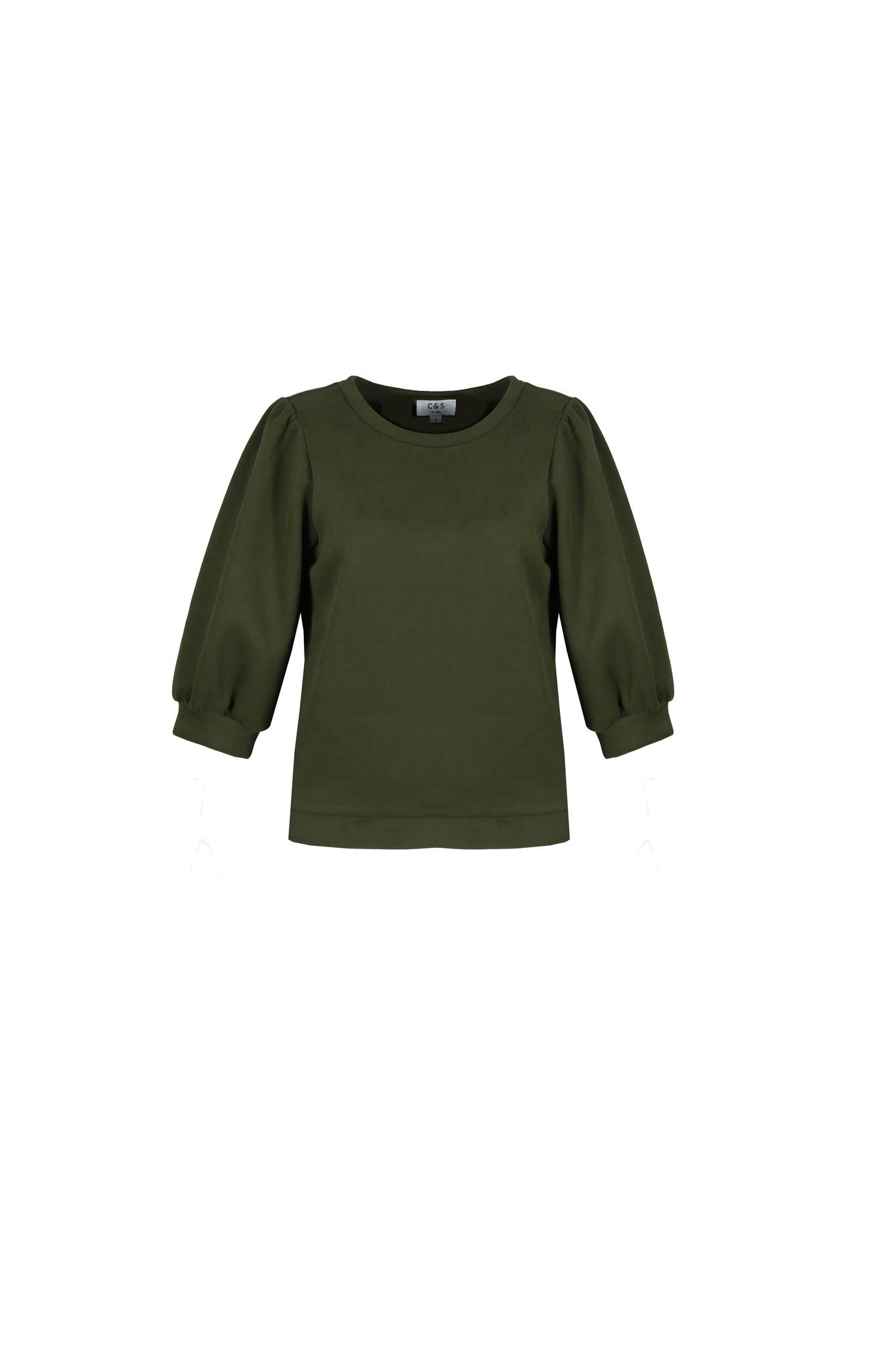 C&S The label C&S The Label June sweater groen