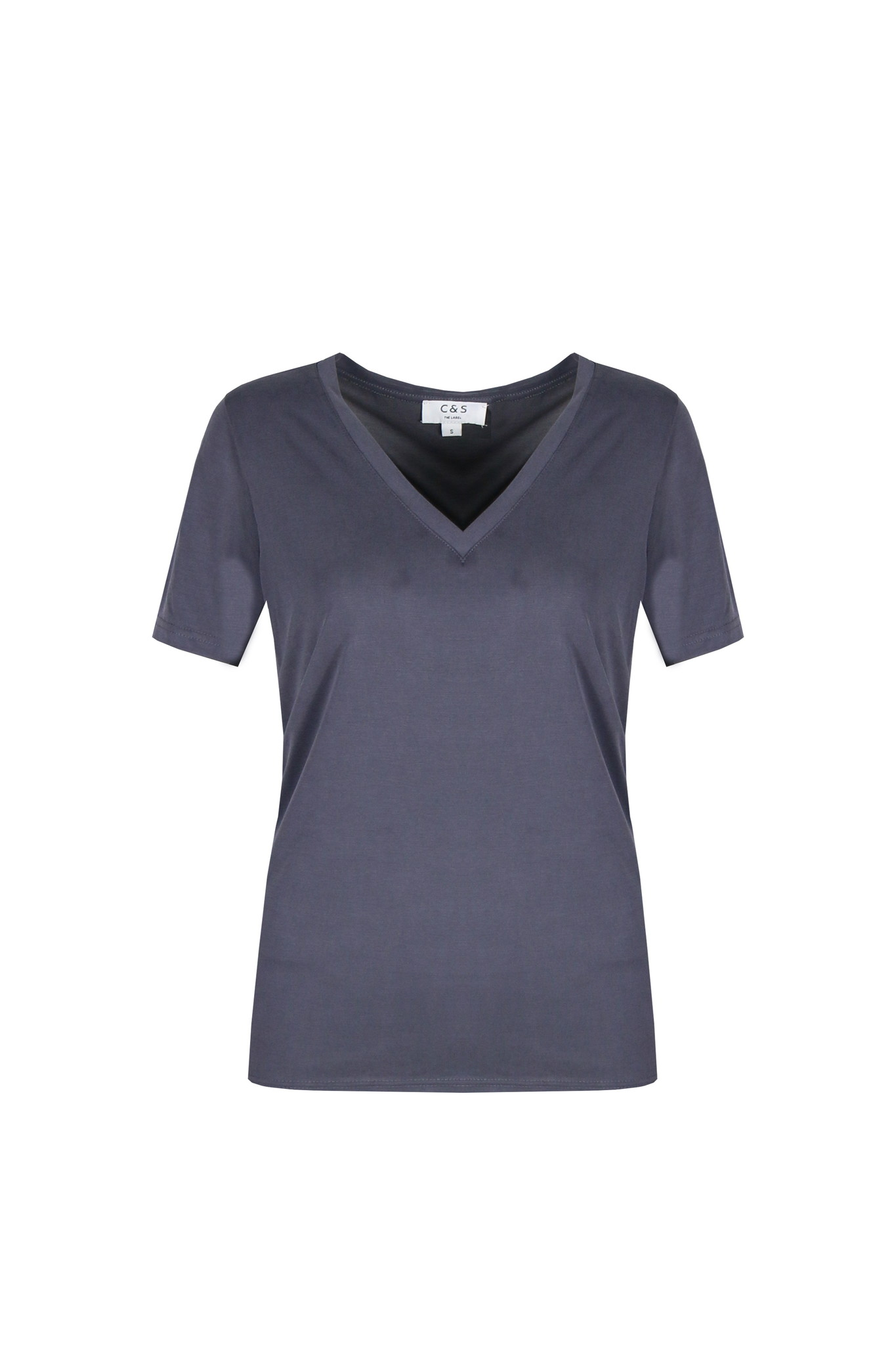 C&S The label C&S The label t-shirt Iske jeansblauw