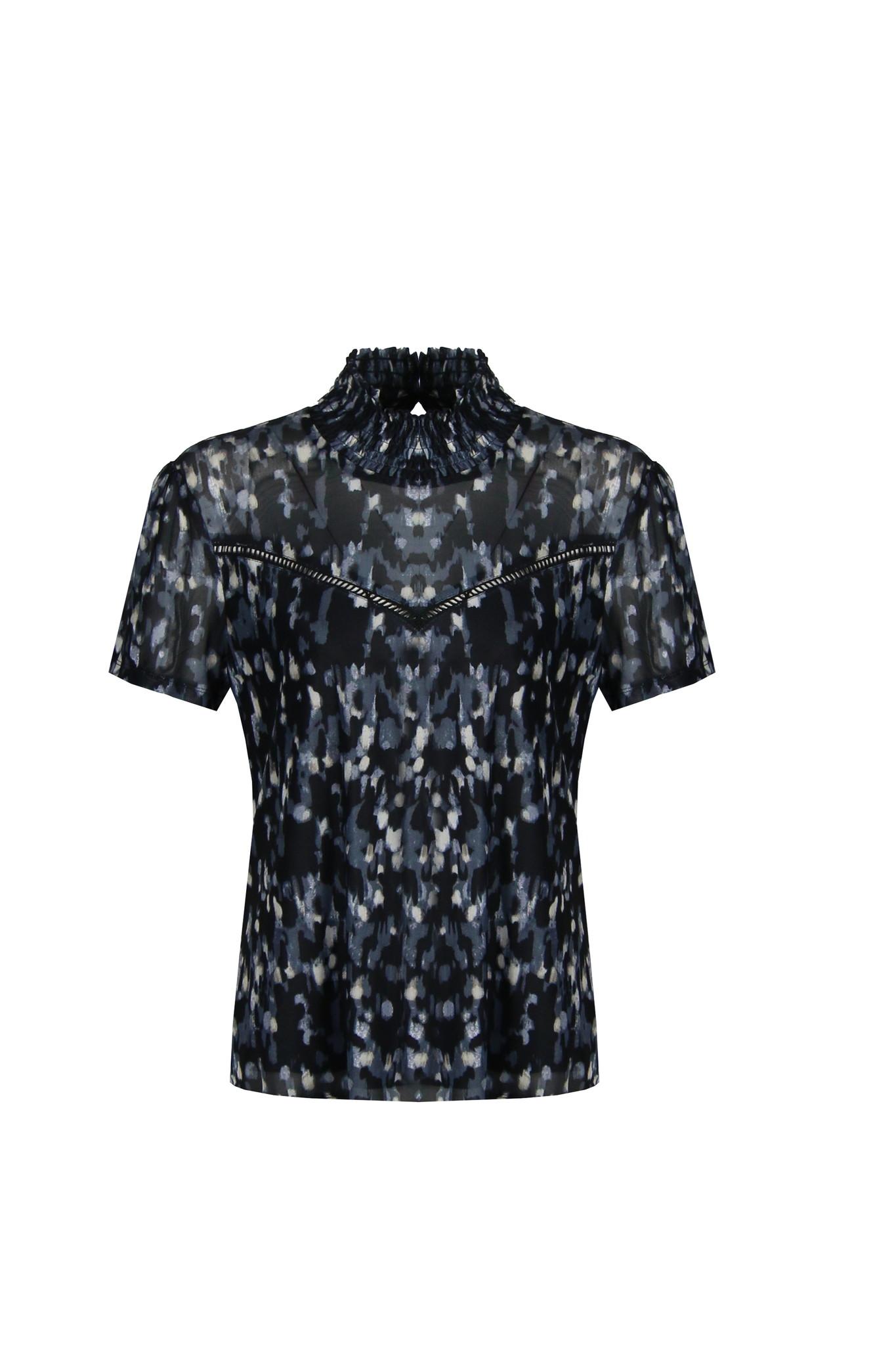 G-Maxx G-Maxx Gwendoline top zwart/jeans blauw