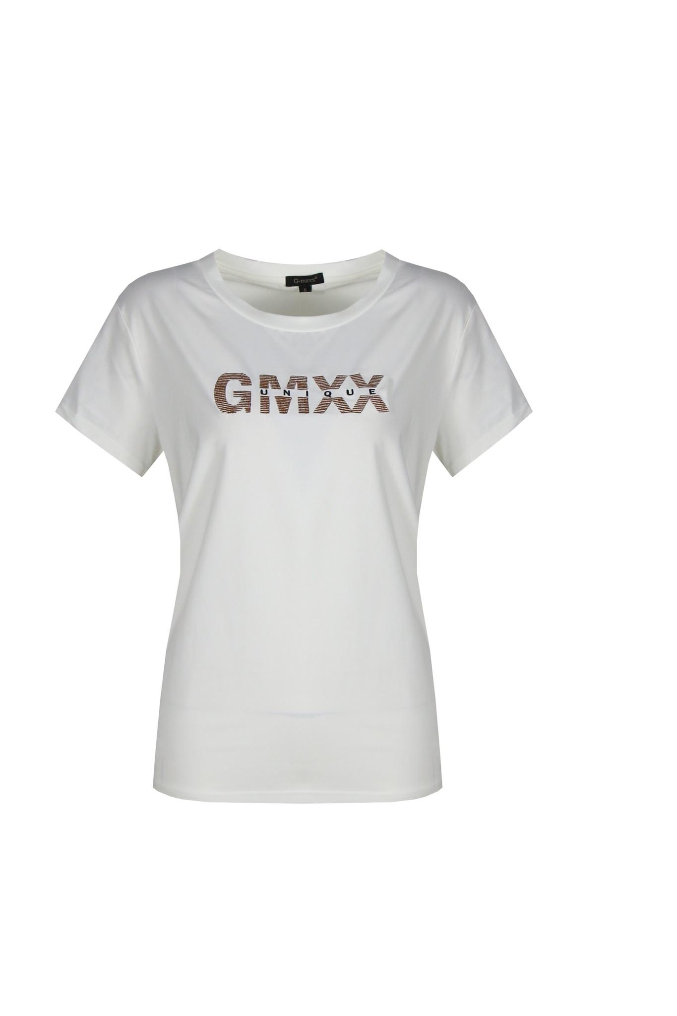 G-Maxx G-Maxx Djuna  t-shirt wit/koper