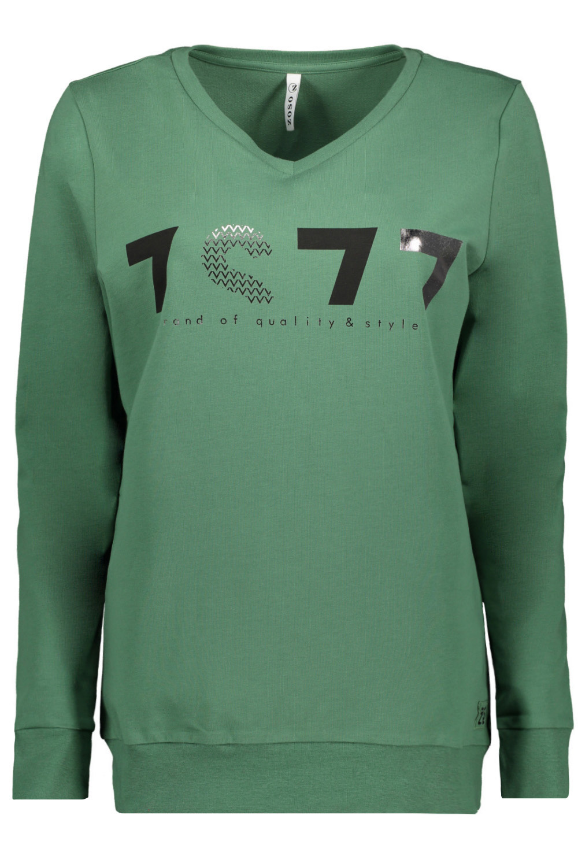 Zoso Zoso 215Linda trui with print green