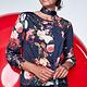 K-Design K-Design T129 Blouse ronde hals met print & sjaal