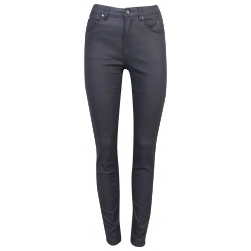 Norfy Denim Norfy Denim broek leather look zwart