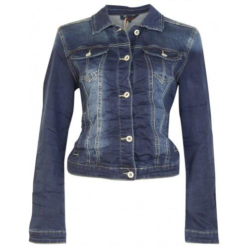 Place Du Jour Place Du Jour jeans jacket donkerblauw