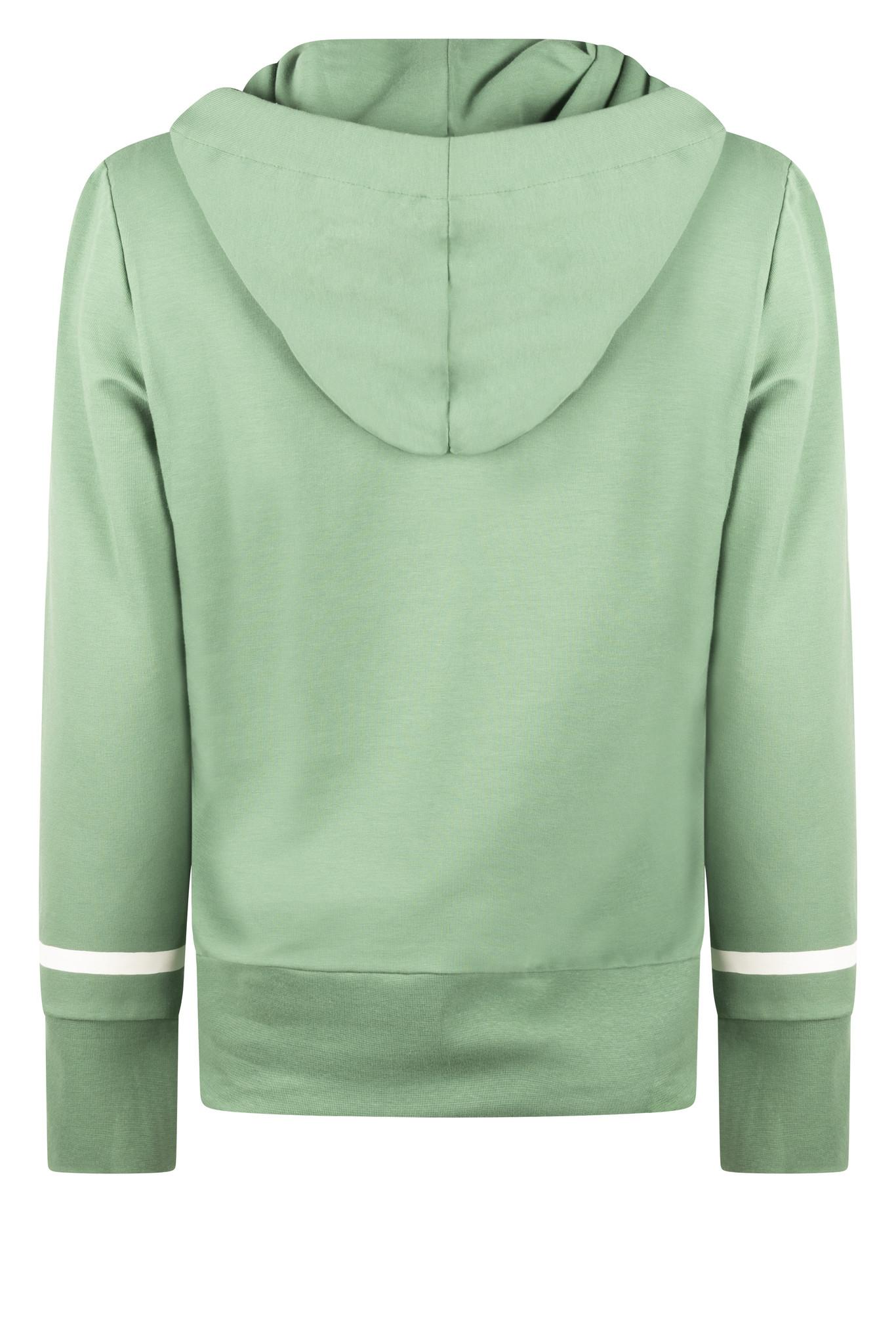 Zoso Zoso 215 Didi Hooded sweater techprint  green/offwhite