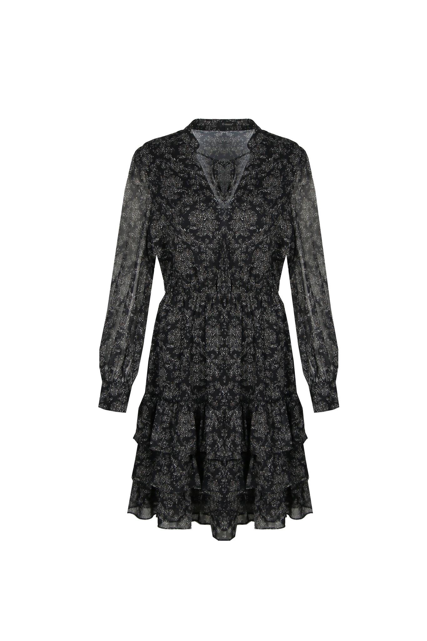 G-Maxx G-Maxx Harmony jurk zwart/roomwit