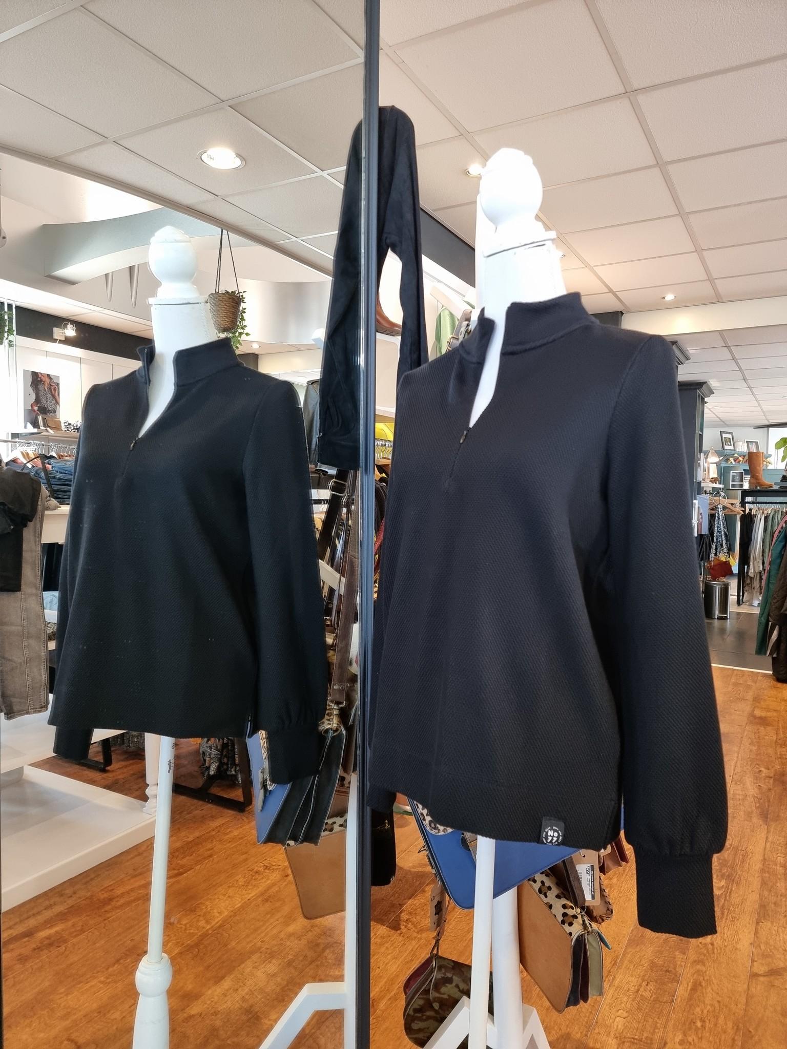 Zoso Zoso 215 Carmen Fantasy fabric sweater black