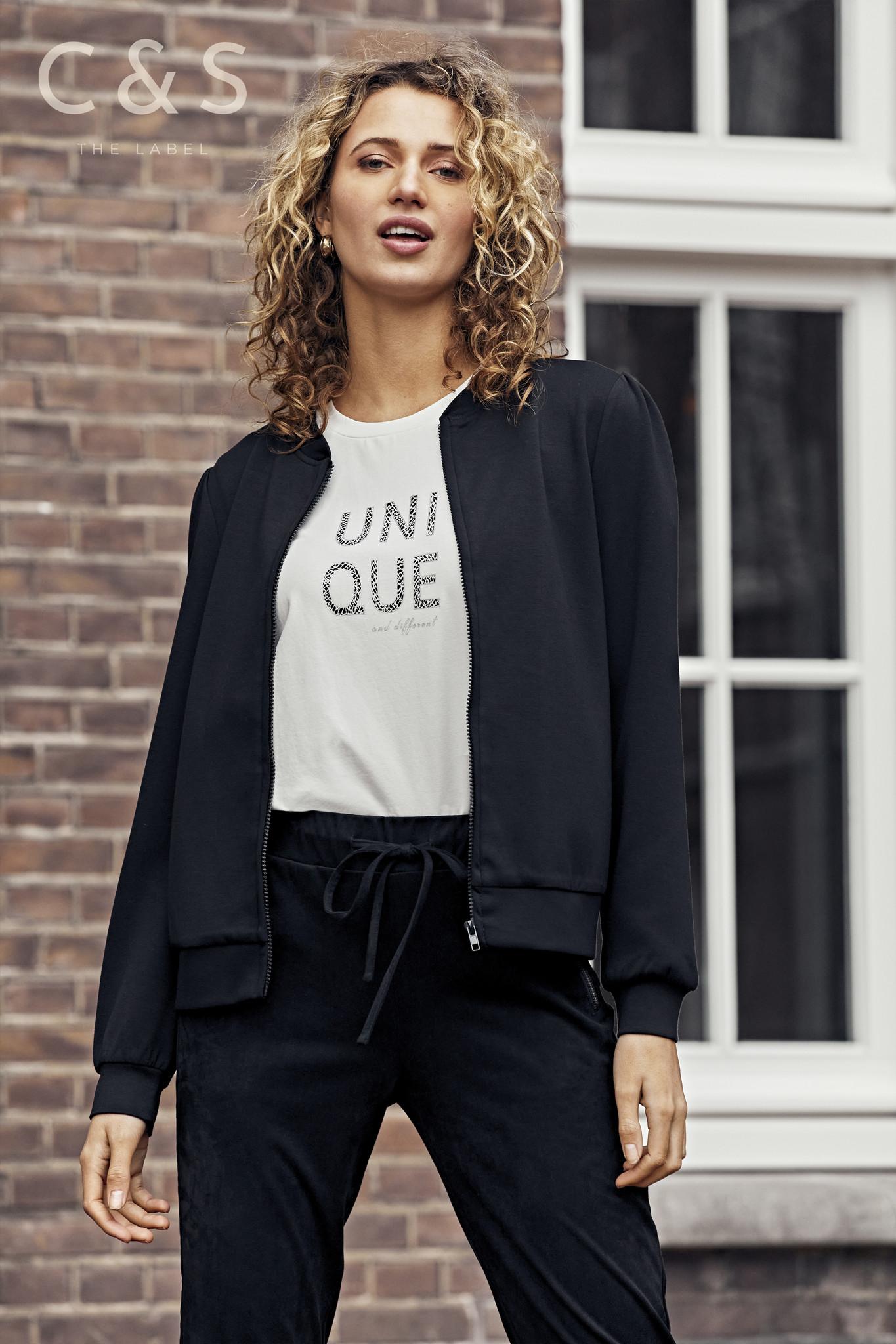 C&S The label C&S The Label Neri vest zwart