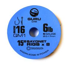 """GURU - QM1 Ready Tied Rigs Bayonets 15"""" - Blue"""