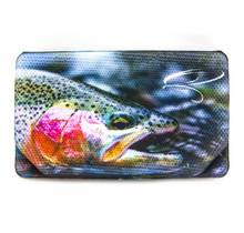 TRAUN RIVER - Fly Box Met Print Rainbow Trout