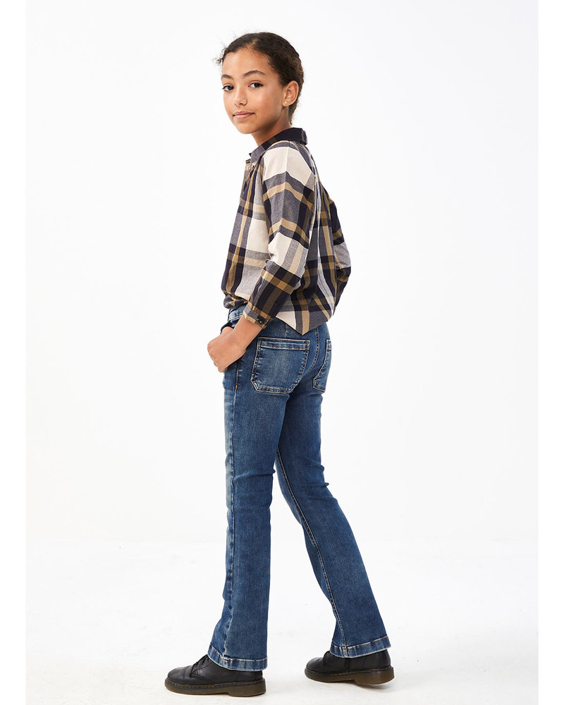By Bar Blouse Norel big check - midnight