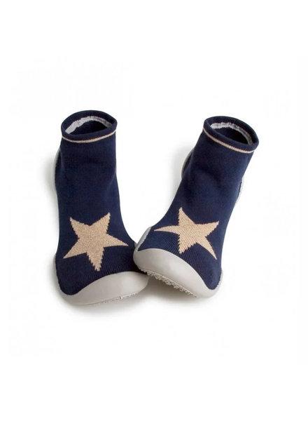 Collegien Sokpantoffels  blauw met ster