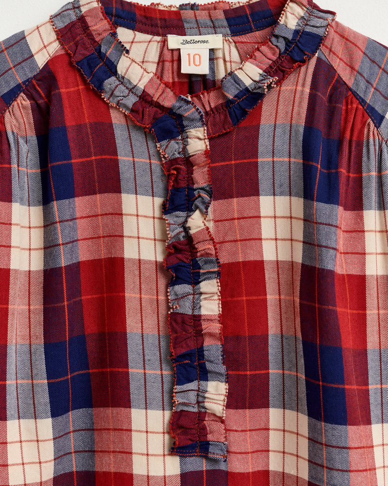 Bellerose Geruite blouse 'iman'