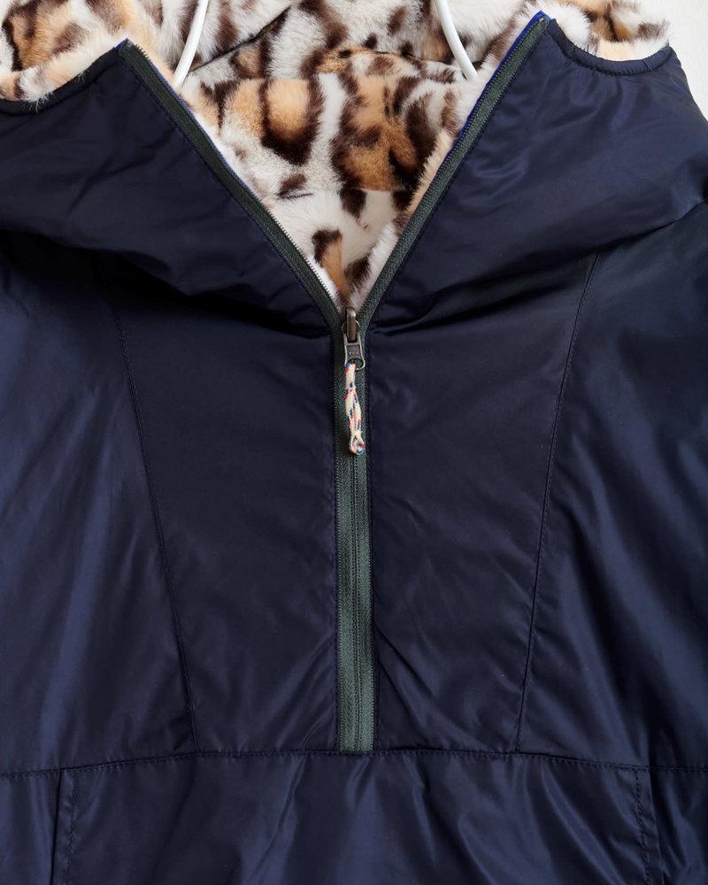 Bellerose Omkeerbaar jasje Navy met luipaardprint