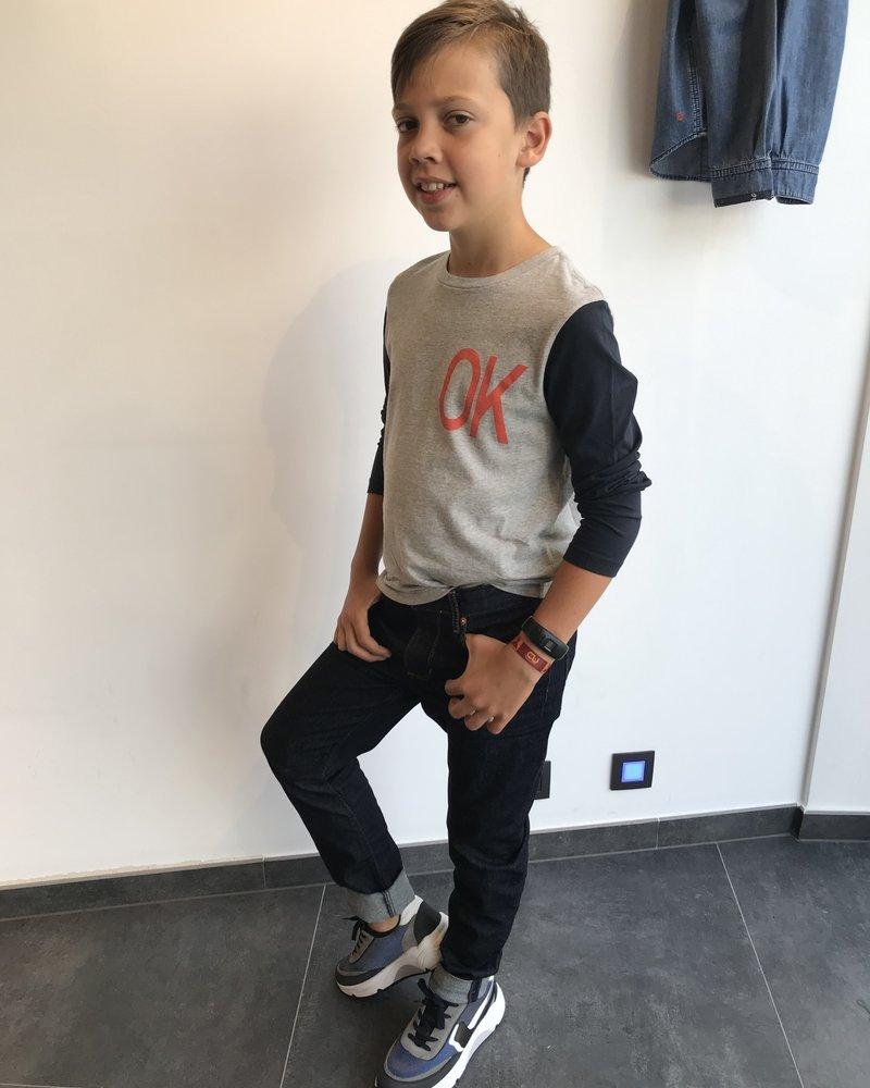 Bellerose T-shirt met lange mouwen 'Kenno' Grey