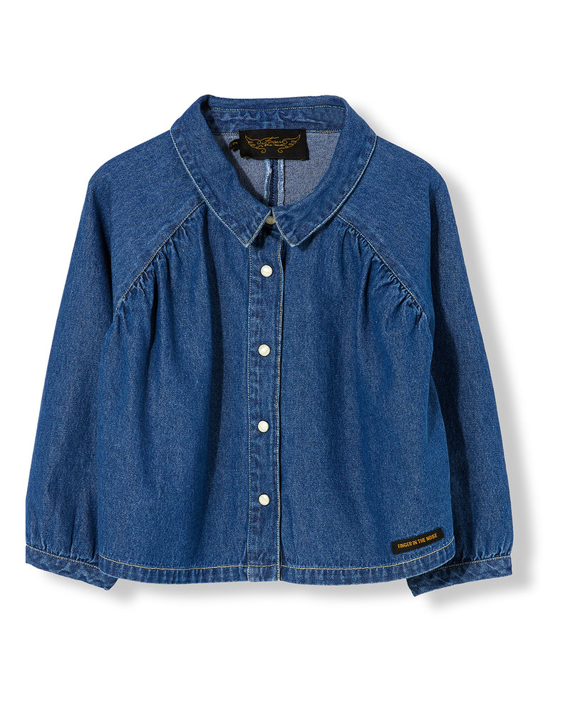 Finger in the nose Lakeview Shirt Blue Denim