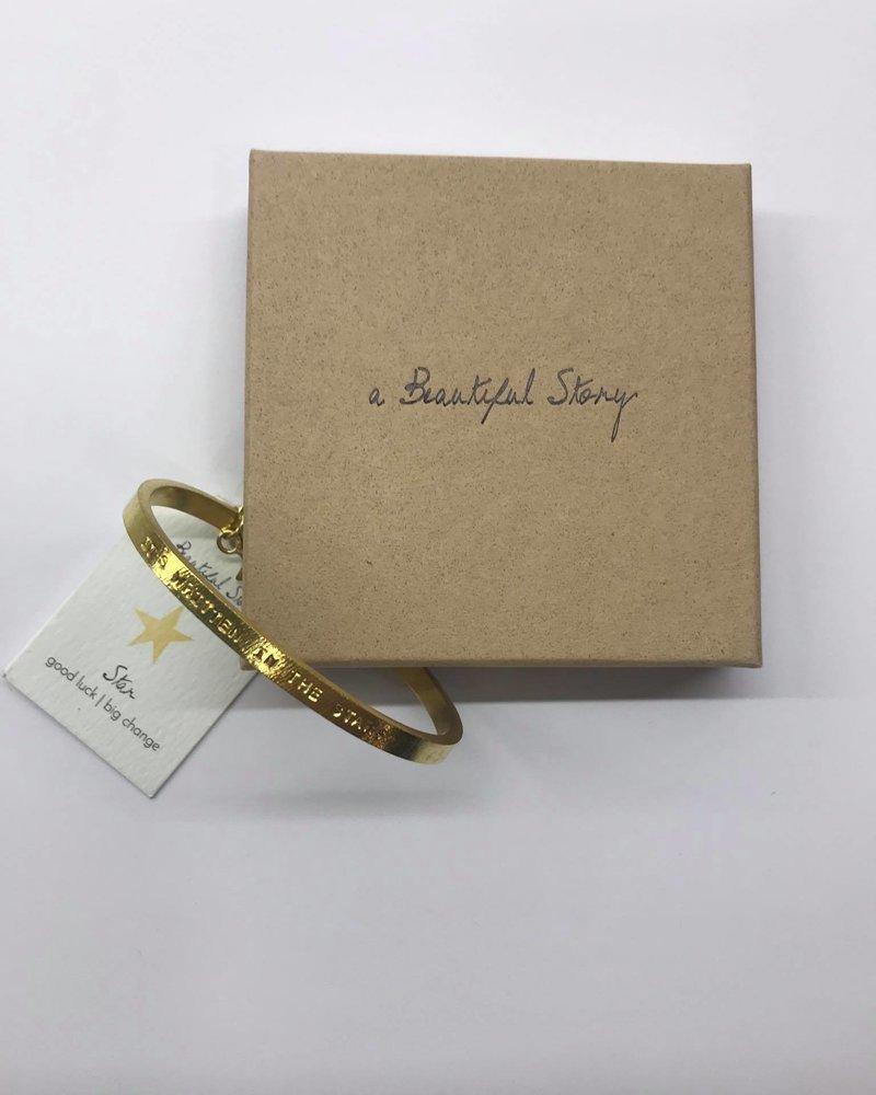 A Beautiful Story Pure Bracelet Star Gold