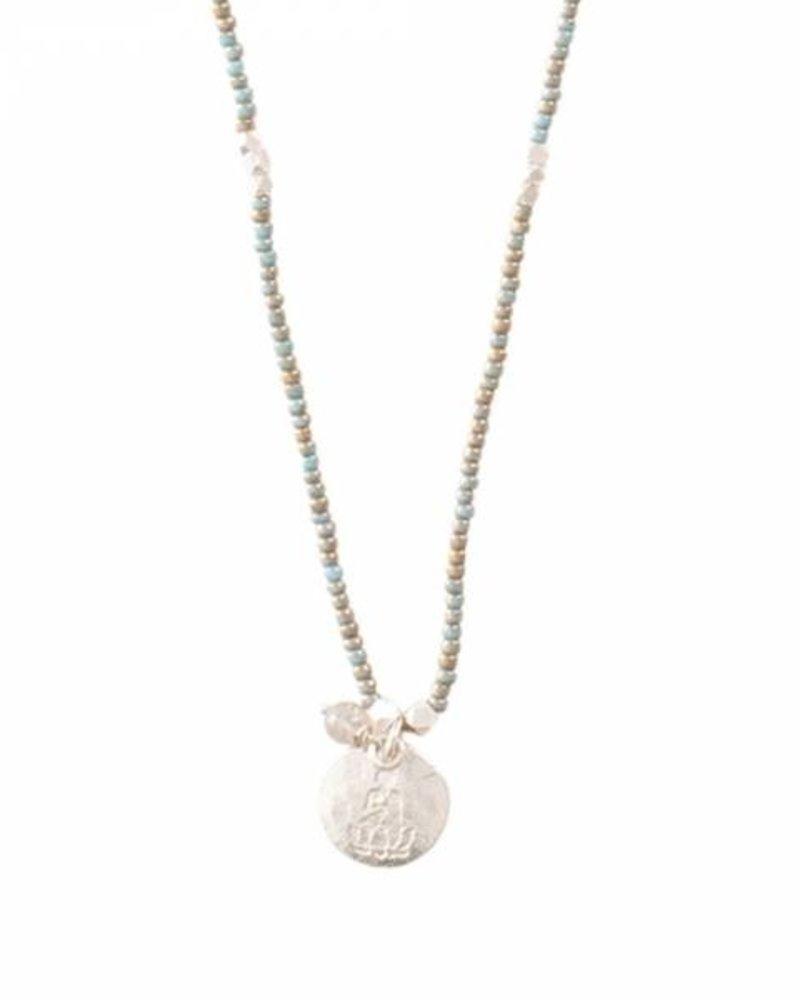 A Beautiful Story Truly Necklace Labradorite Buddha Silver