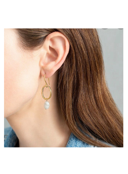 A Beautiful Story Graceful Earrings - Moonstone Gold