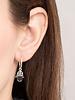A Beautiful Story Earrings Hamsa Hand Silver