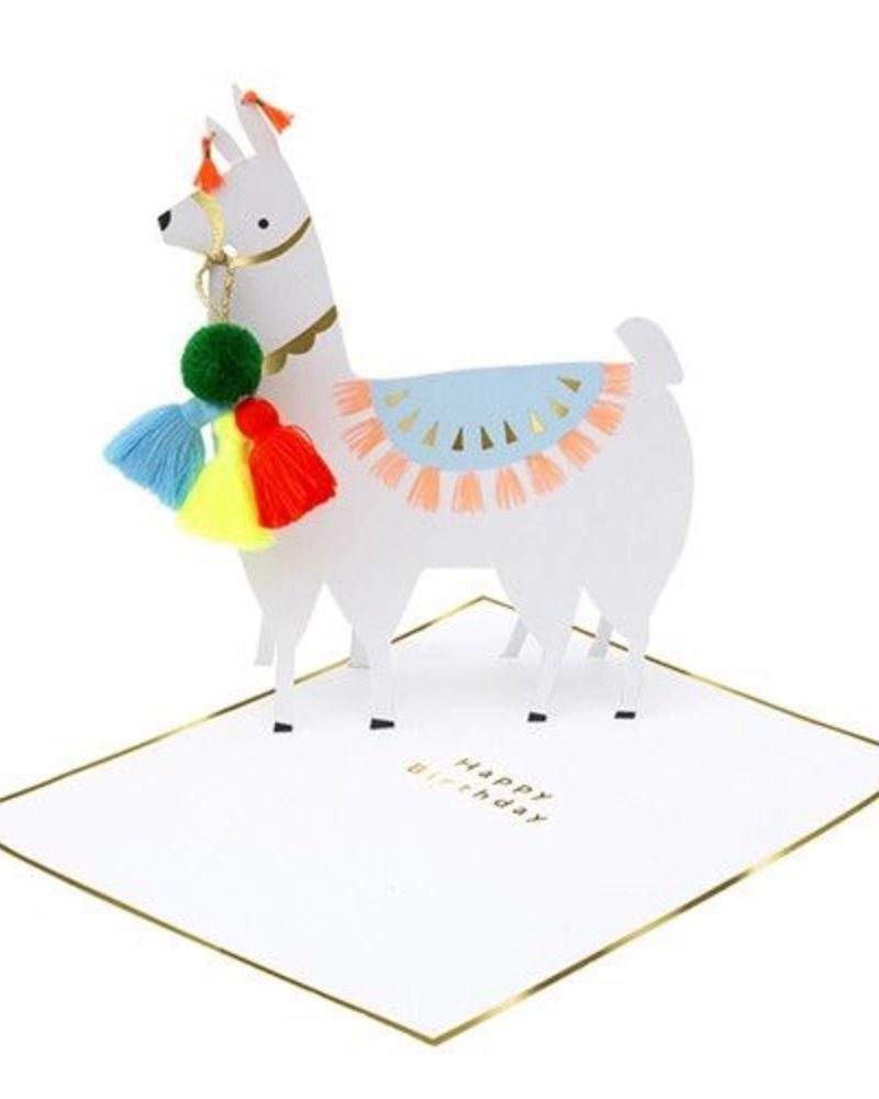 Meri Meri Verjaardagskaart Stand-up Llama