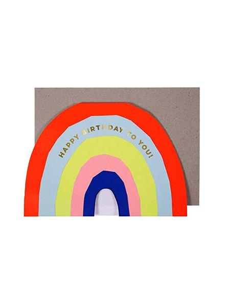 Meri Meri Verjaardagskaart Neon Regenboog