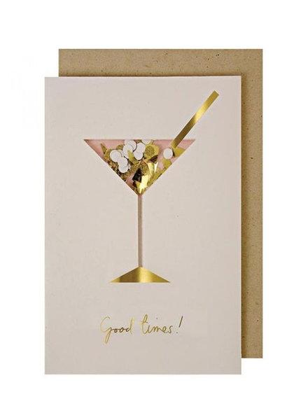 Meri Meri Verjaardagskaart Cocktail Confetti