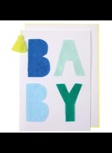 Meri Meri Kaartje geboorte Blue Baby