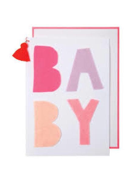 Meri Meri Kaartje geboorte Pink Baby
