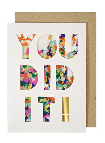 Meri Meri Meri Meri Greeting Card You Did It Confetti