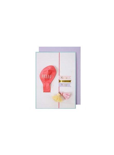 Meri Meri Kaartje Hello Pink Balloon