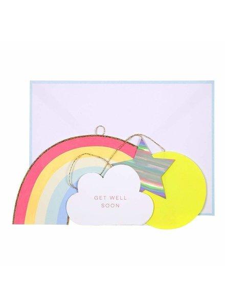 Meri Meri Beterschap kaart Get Well Soon Rainbow