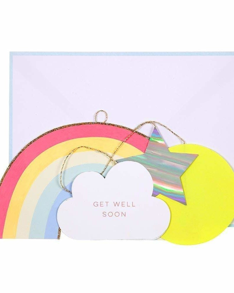 Meri Meri Beterschap kaart Get Well Soon Rainbow