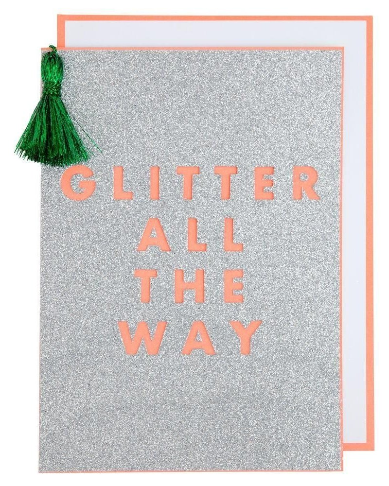 Meri Meri Kaart Glitter all the way